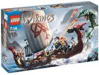 LEGO Vikings 7018 Корабль викингов против Змея Митгарда