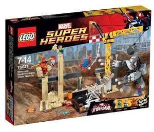 LEGO Marvel Super Heroes 76037 Носорог и Песочный человек с командой супер злодеев